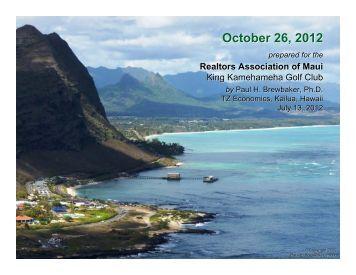 October 26, 2012 - REALTORS® Association of Maui, Inc.