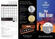 July 2010 Mini Mint Issue - Royal Australian Mint