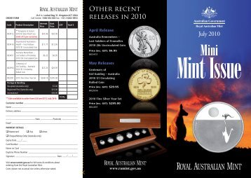 July 2010 Mini Mint Issue - Royal Australian Mint