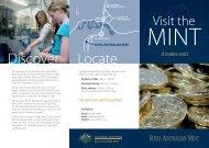 Visit the Mint - Tourism Brochure for 2010 - Royal Australian Mint