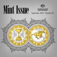 September 2010 Number 85 - Royal Australian Mint