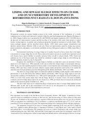 LIMING AND SEWAGE SLUDGE EFFECTS ON CD SOIL ... - Ramiran