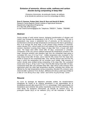 Emission of ammonia, nitrous oxide, methane and carbon ... - Ramiran