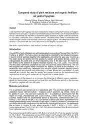 Compared study of plant residues and organic fertilizer on ... - Ramiran