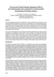 The survival of Faecal Indicator Organisms (FIOs) in soil ... - Ramiran