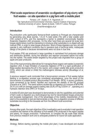 Pilot scale experience of anaerobic co-digestion of pig ... - Ramiran