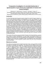 Comparative investigation of a microbial biodiversity in ... - Ramiran