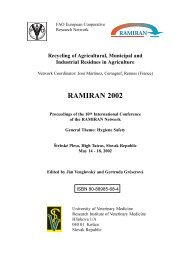 influence of pig slurry manuring on the hygienic well ... - Ramiran