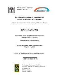 compost quality and use from sewage sludge, organic ... - Ramiran