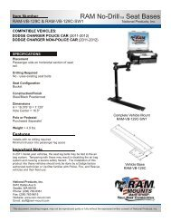 RAM-VB-129C-SW1 Installation Instructions - RAM Mounts