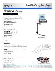 RAM-VB-144-SW1 Installation Instructions - RAM Mounts