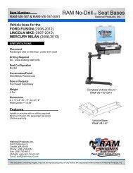 RAM-VB-167-SW1 - RAM Mounts