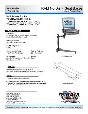 RAM-VB-133-SW1 - RAM Mounts