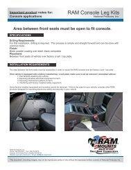 RAM Console Leg Kits - RAM Mounts