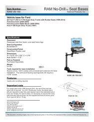 RAM-VB-185-SW1 Installation Instructions - RAM Mounts