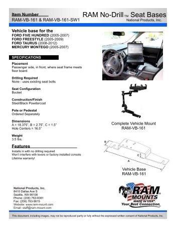 RAM-VB-161-SW1 - RAM Mounts