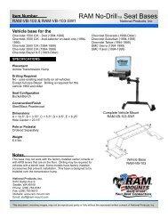 RAM-VB-103-SW1 - RAM Mounts
