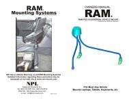 Mounting Systems - RAM Mounts