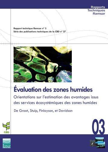 Évaluation des zones humides - Ramsar Convention on Wetlands