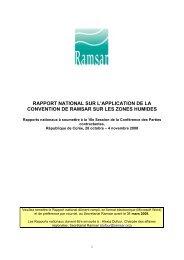 rapport national sur l'application de la convention de ramsar sur les ...