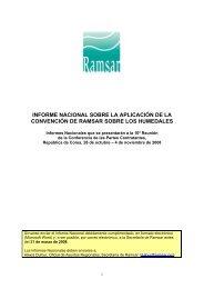 informe nacional sobre la aplicación de la convención de ramsar ...