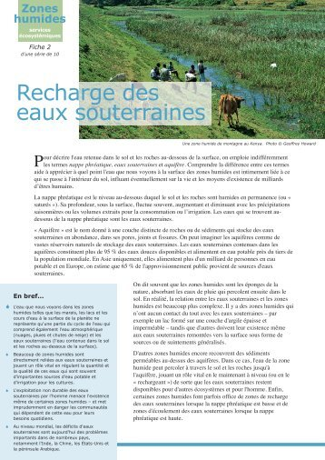 Recharge des eaux souterraines… - Ramsar Convention on Wetlands