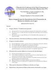 Marco integrado para los lineamientos de la Convención de Ramsar ...