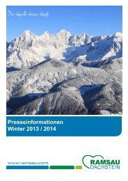 Presseinformationen Winter 2013 / 2014 - Ramsau am Dachstein