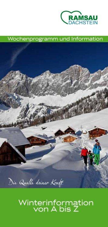 Winterinformation von A bis Z - Ramsau am Dachstein