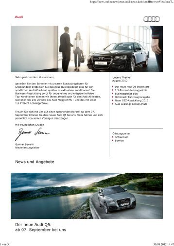 News und Angebote Der neue Audi Q5: ab 07. September bei uns