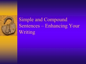 Simple, Compound, and Complex Sentences in Your Writing