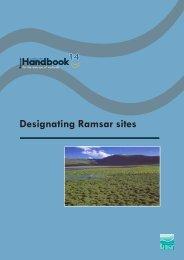 Designating Ramsar sites The Strategic Framework and guidelines ...