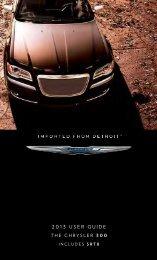 2013 Chrysler 300 SRT User's Guide - RAM Trucks