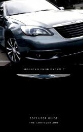 2013 Chrysler 200 Sedan User's Guide - RAM Trucks
