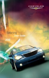2010 Chrysler Sebring Sedan User's Manual - RAM Trucks