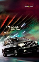 2010 Chrysler Town & Country User's Guide - RAM Trucks