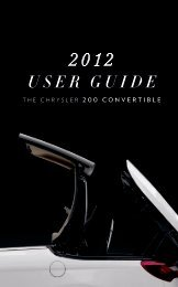 2012 Chrysler 200 Convertible User Guide - RAM Trucks
