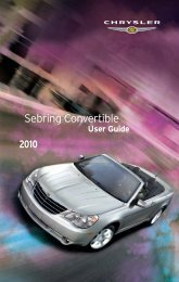 2010 Chrysler Sebring Convertible User Guide - RAM Trucks