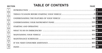 2010 chrysler town and country owners manual