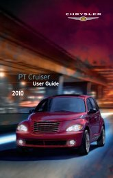 2010 Chrysler PT44 Cruiser User's Guide - Ram Trucks