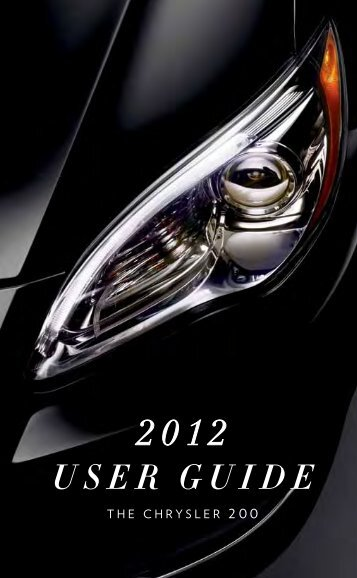 2012 Chrysler 200 User Guide - RAM Trucks