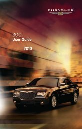2010 Chrysler 300 Users Guide - RAM Trucks