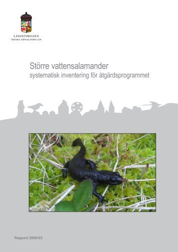 Inventering av större vattensalamander i Västra ... - Länsstyrelserna