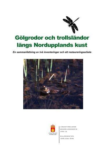 Gölgrodor och trollsländor längs Nordupplands kust - Länsstyrelserna