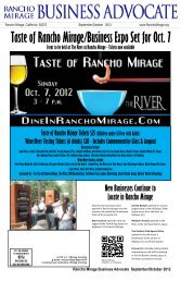 Taste of Rancho Mirage/Business Expo Set for Oct. 7