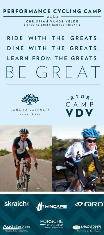 Be great - Rancho Valencia