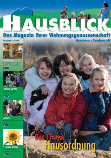 Haus - Arnsberger Wohnungsbaugenossenschaft eG