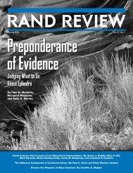 RAND Review, Vol. 27, No. 1, Spring 2003 - RAND Corporation