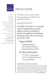 Assessing Irregular Warfare - RAND Corporation