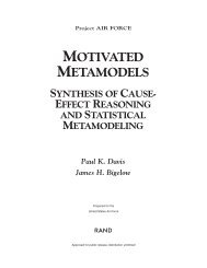 Motivated Metamodels - Defense Technical Information Center